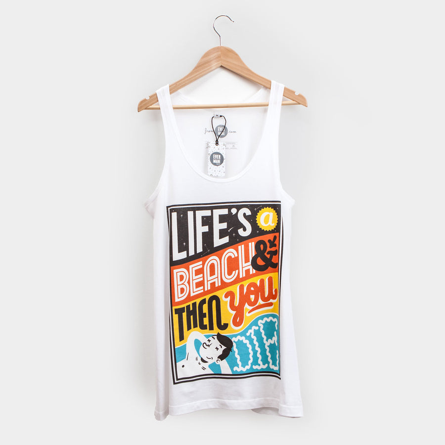 Sam Bevington Life's A Beach - Womens Vest - Evermade