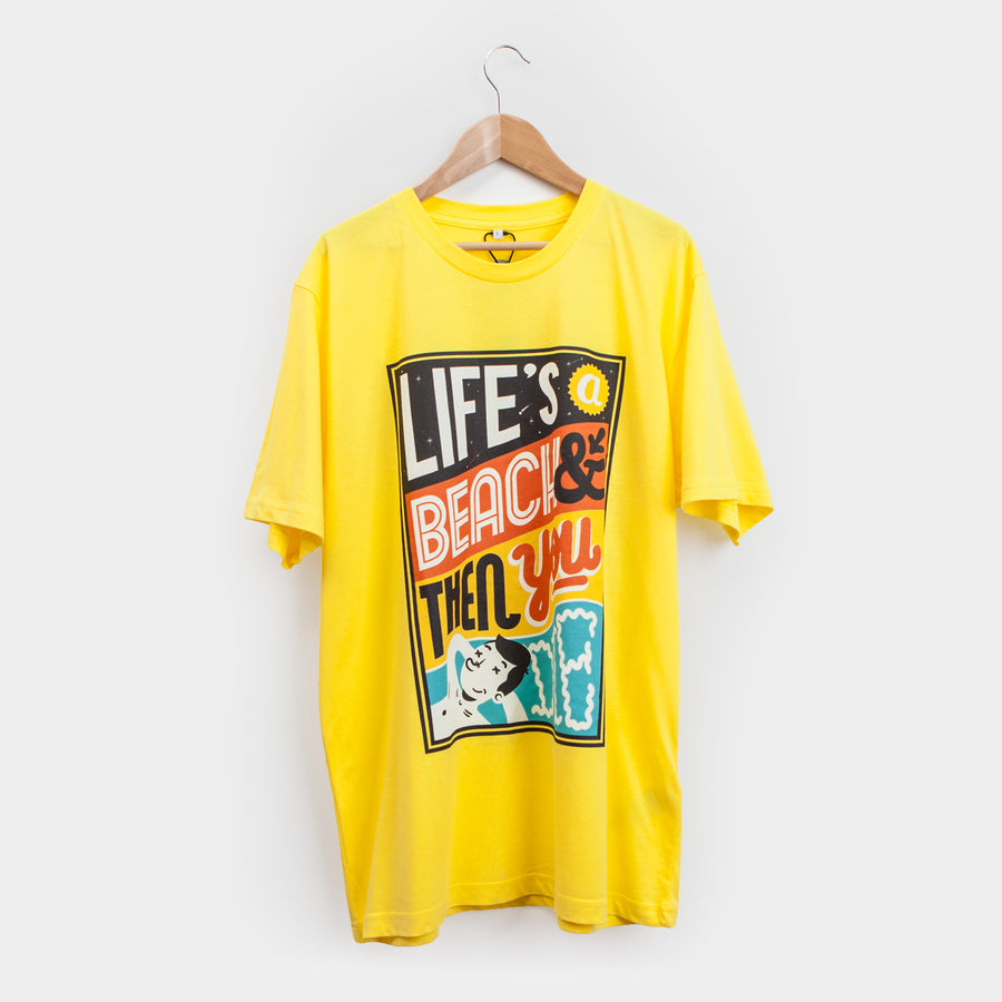 Sam Bevington Life's A Beach - T-shirt - Evermade