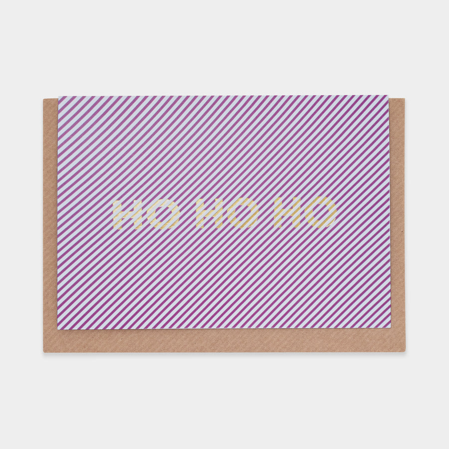 Ho Ho Ho Christmas Card - Evermade