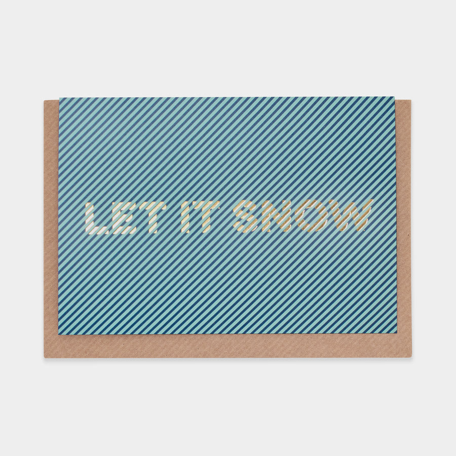 Evermade Studio Let it Snow Christmas Card - Evermade