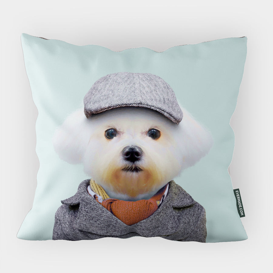 Yago Partal Maltese Dog Cushion - Evermade
