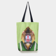 Yago Partal Mandrill - Zoo Portrait Tote Bag - Evermade