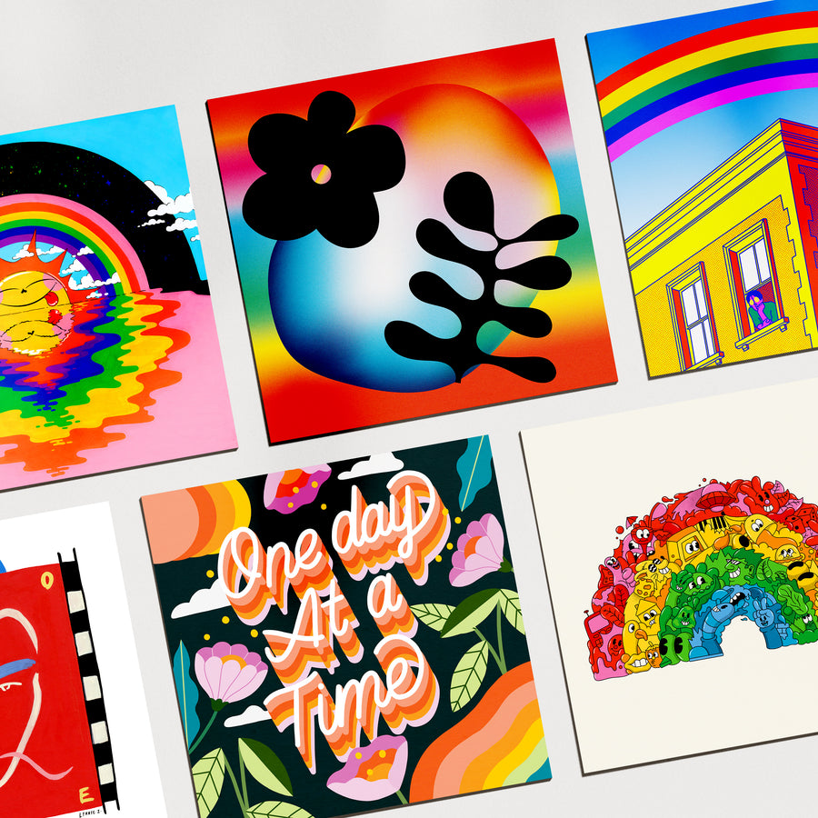 Various Artists Rainbow Postcard Pack - Evermade