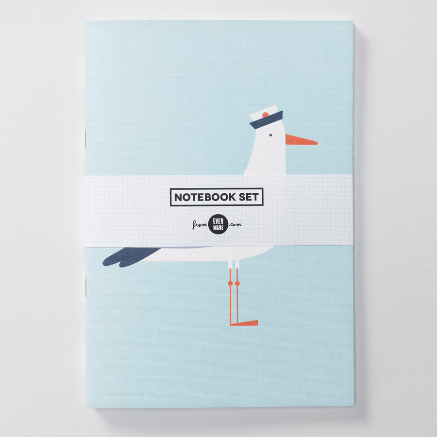 Evermade Studio Seaside Seagull Notebooks - Evermade