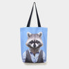 Yago Partal Raccoon - Zoo Portrait Tote Bag - Evermade