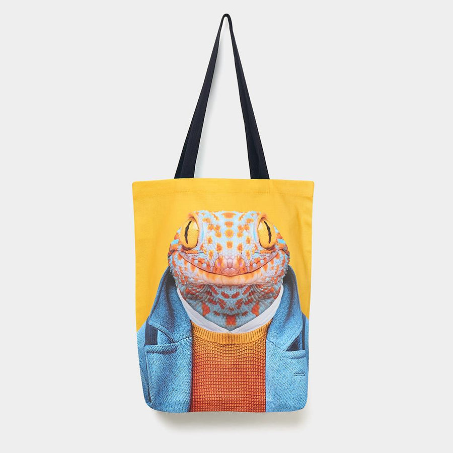 Yago Partal Gecko - Zoo Portrait Tote Bag - Evermade