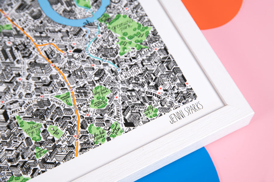 Jenni Sparks Hand Drawn Map of London - Evermade