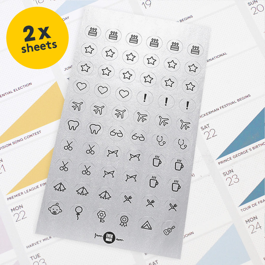 Evermade Studio Additional Planner Stickers - Evermade