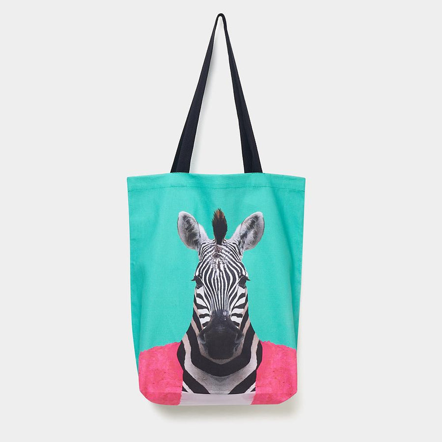 Yago Partal Zebra - Zoo Portrait Tote Bag - Evermade