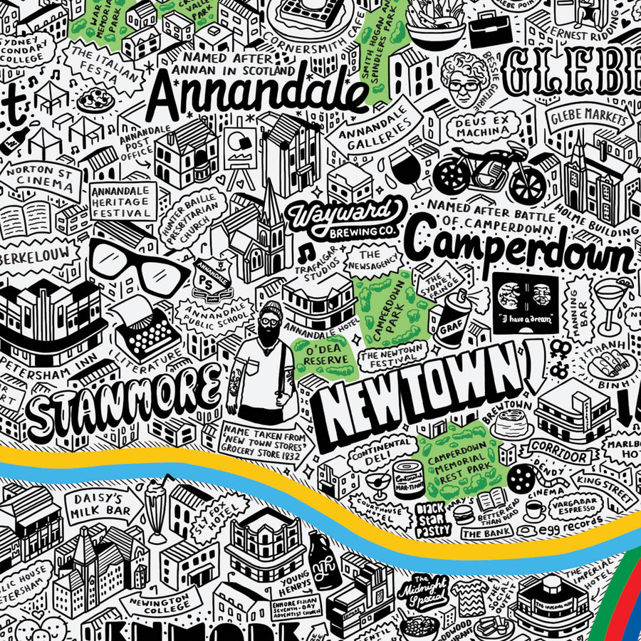 Hand Drawn Map of Sydney - Evermade