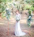 White Flowers + Rectangular Arch