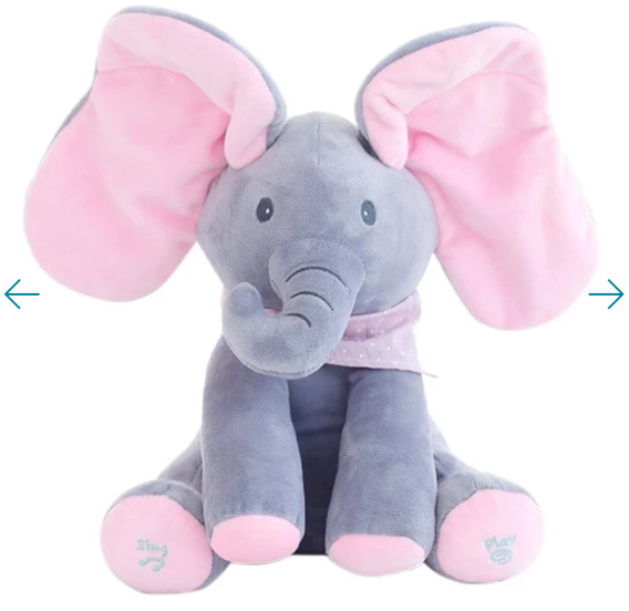 Peekatoy™ Elephant Plush Toy