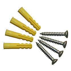 Screws & wall fixings (spares) for Dispensers - 1 pack