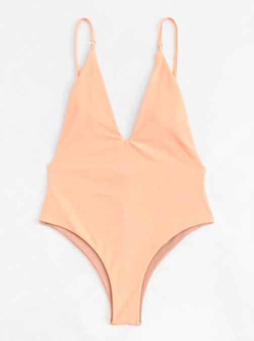 V Shaped Peach Swimsuit