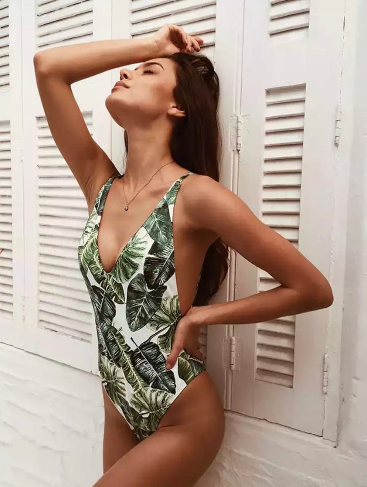Tropical Leaf Swimsuit