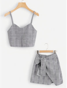 Asymmetrical Two Piece Set