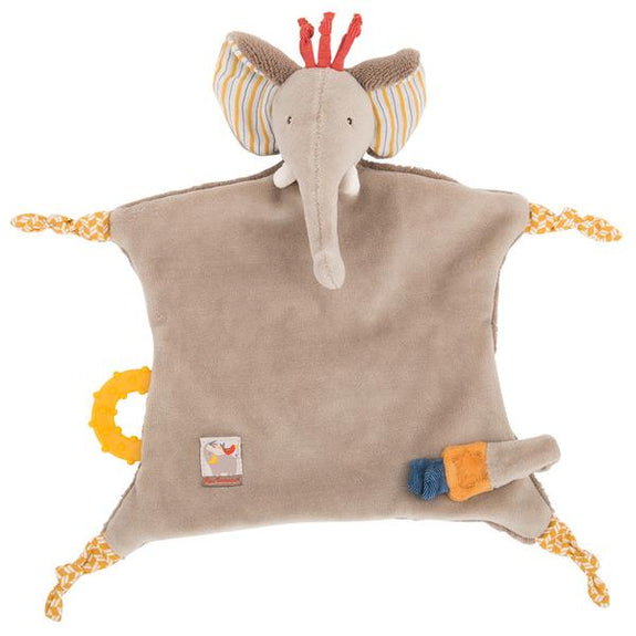 Personalised Les Papoum Elephant Doudou - LOVINGLY SIGNED INDONESIA