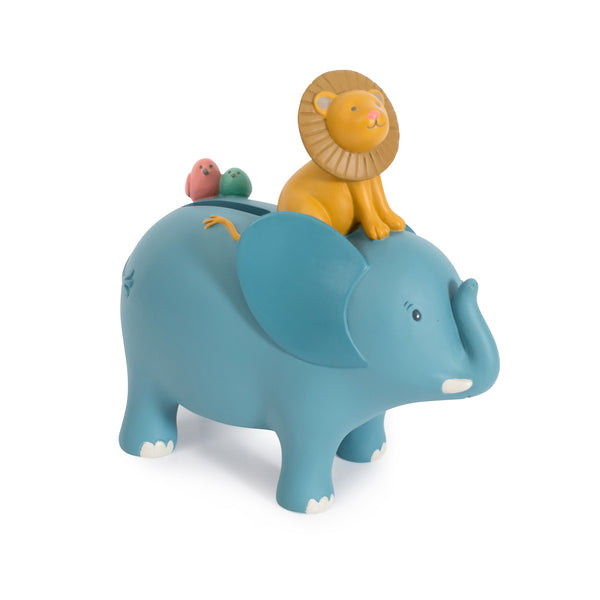 Sous Mon Baobab Bergamotte Elephant Hand-Painted Savings Bank - LOVINGLY SIGNED INDONESIA