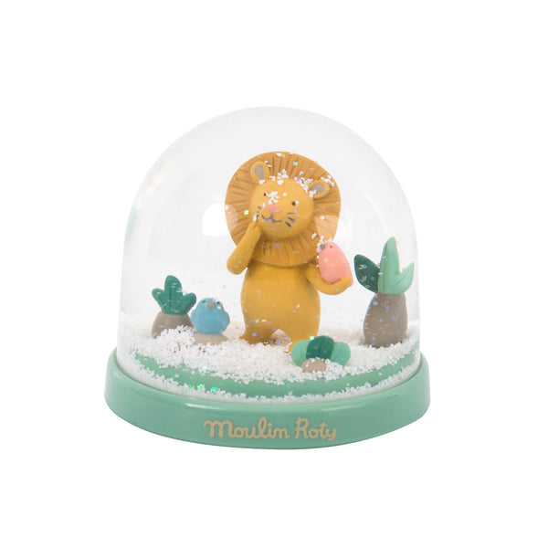 Sous Mon Baobab Paprika Lion Snow Globe - LOVINGLY SIGNED INDONESIA