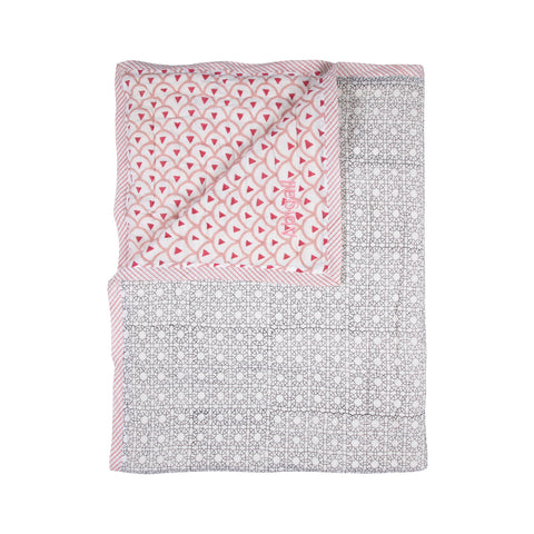 Personalised Baby Quilt - Kyoto Rose
