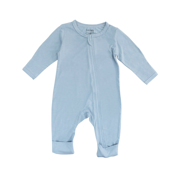 Bamboo Long Sleeve Bodysuit - Blue (Set of 3)
