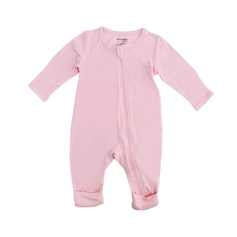 Bamboo Long Sleeve Bodysuit - Pink
