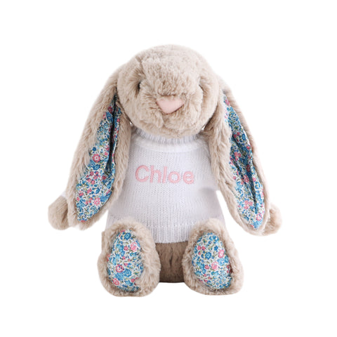 Personalised Blossom Beige Bunny