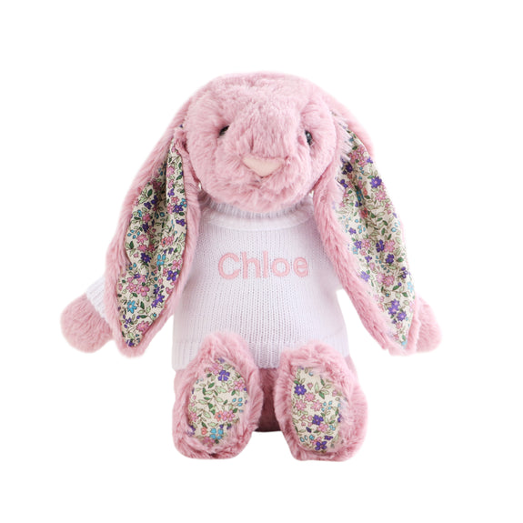 Personalised Blossom Tulip Pink Bunny
