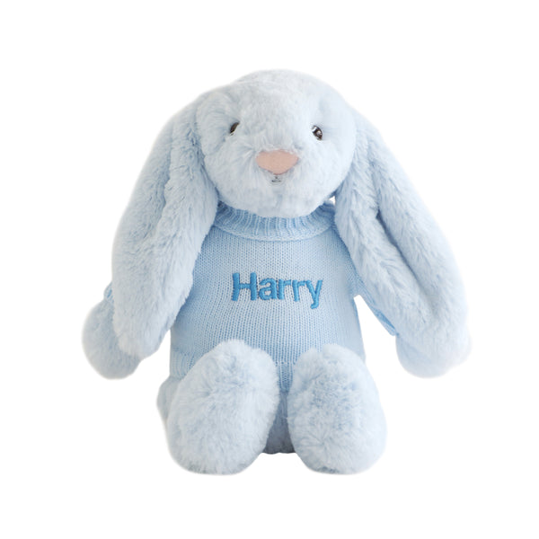 Personalised Jellycat Bunny - Blue