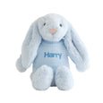 Personalised Bunny Snuggles Baby Bath Set - Blue