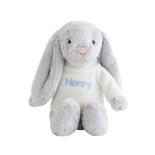 Personalised Jellycat Bunny - Grey