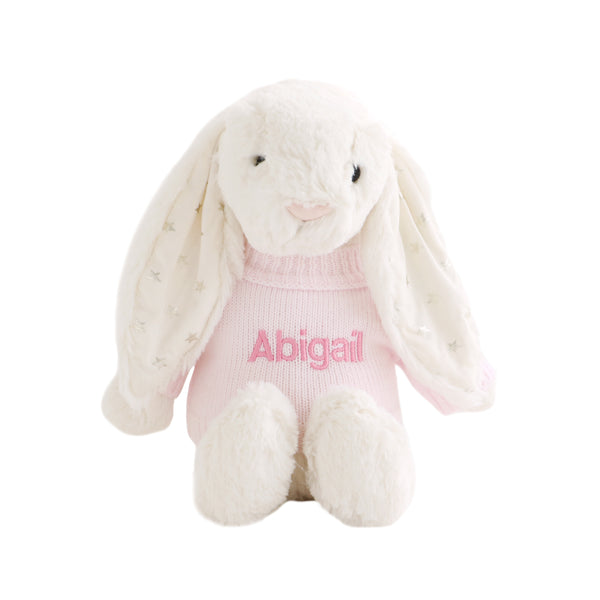 Personalised Twinkle Bunny - White