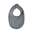 Personalised Organic Cotton Bib - Grey - LOVINGLY SIGNED INDONESIA