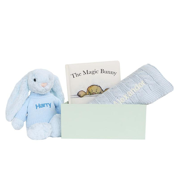 Personalised Magic Bunny Gift Set - Blue - LOVINGLY SIGNED INDONESIA