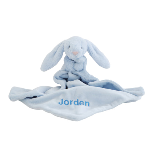 Personalised Bunny Comforter - Blue