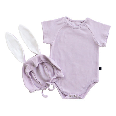 Bunny Suit With Bonnet - Light Purple