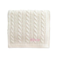 Personalised Super Luxury Baby Cable Knit Blanket - Cream - LOVINGLY SIGNED INDONESIA