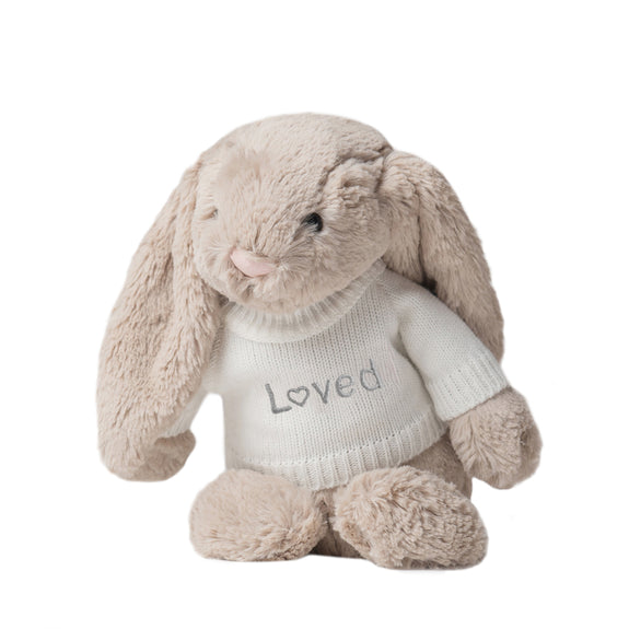 Loved Jellycat Bunny - Beige - LOVINGLY SIGNED INDONESIA
