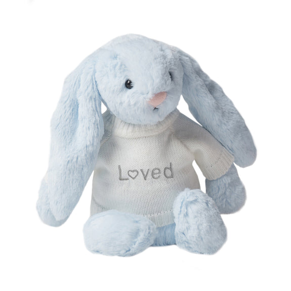 Loved Jellycat Bunny - Blue - LOVINGLY SIGNED INDONESIA