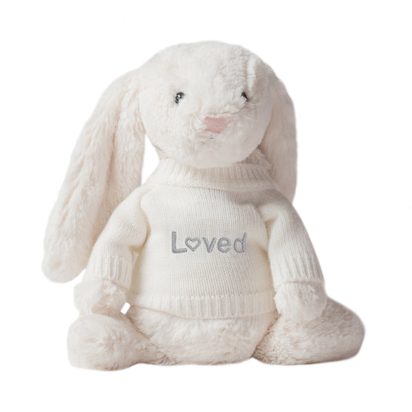 Loved Jellycat Bunny - Cream - LOVINGLY SIGNED INDONESIA