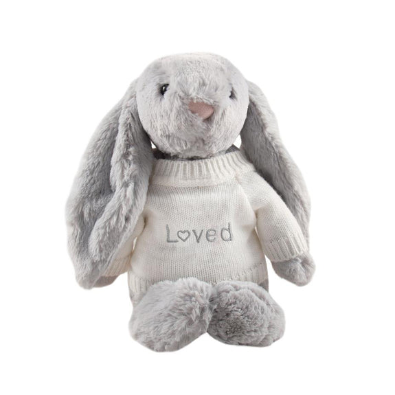 Loved Jellycat Bunny - Grey - LOVINGLY SIGNED INDONESIA
