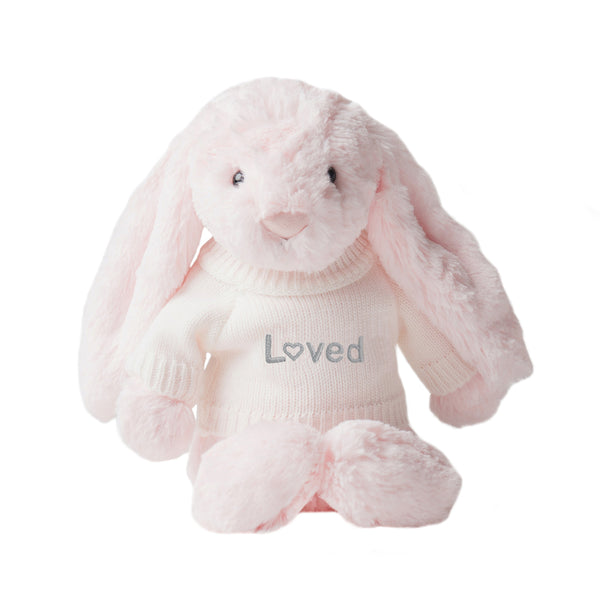 Loved Jellycat Bunny - Pink - LOVINGLY SIGNED INDONESIA