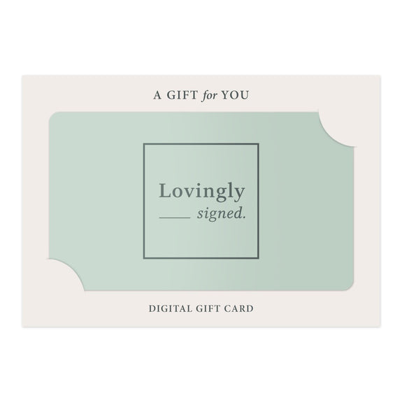 Digital Gift Card - LOVINGLY SIGNED INDONESIA