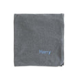 Personalised Organic Baby Blanket - Grey - LOVINGLY SIGNED INDONESIA