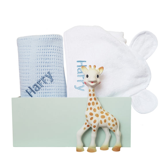 Personalised Sophie Snuggles Gift Set - Blue