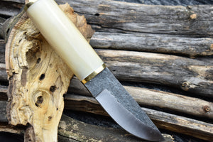 Outdoor Handmade High Carbon Steel Fixed Blade Hunting Scandinavian Puukko Knife - TBP 203