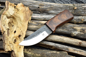 Outdoor Handmade Fixed Blade High Carbon Steel Bushcraft Hunting Knife - TBP 207