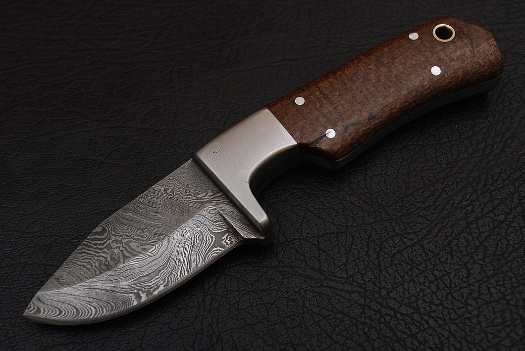 Mini Damascus Steel Skinner - The Blade Point