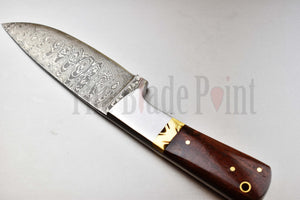 Handmade Damascus Fixed Blade Skinner - TBP-051 - The Blade Point