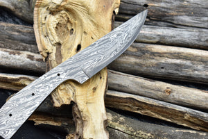 Single Edge Pattern Damascus Steel Blank Blade Full Tang Knife Blank